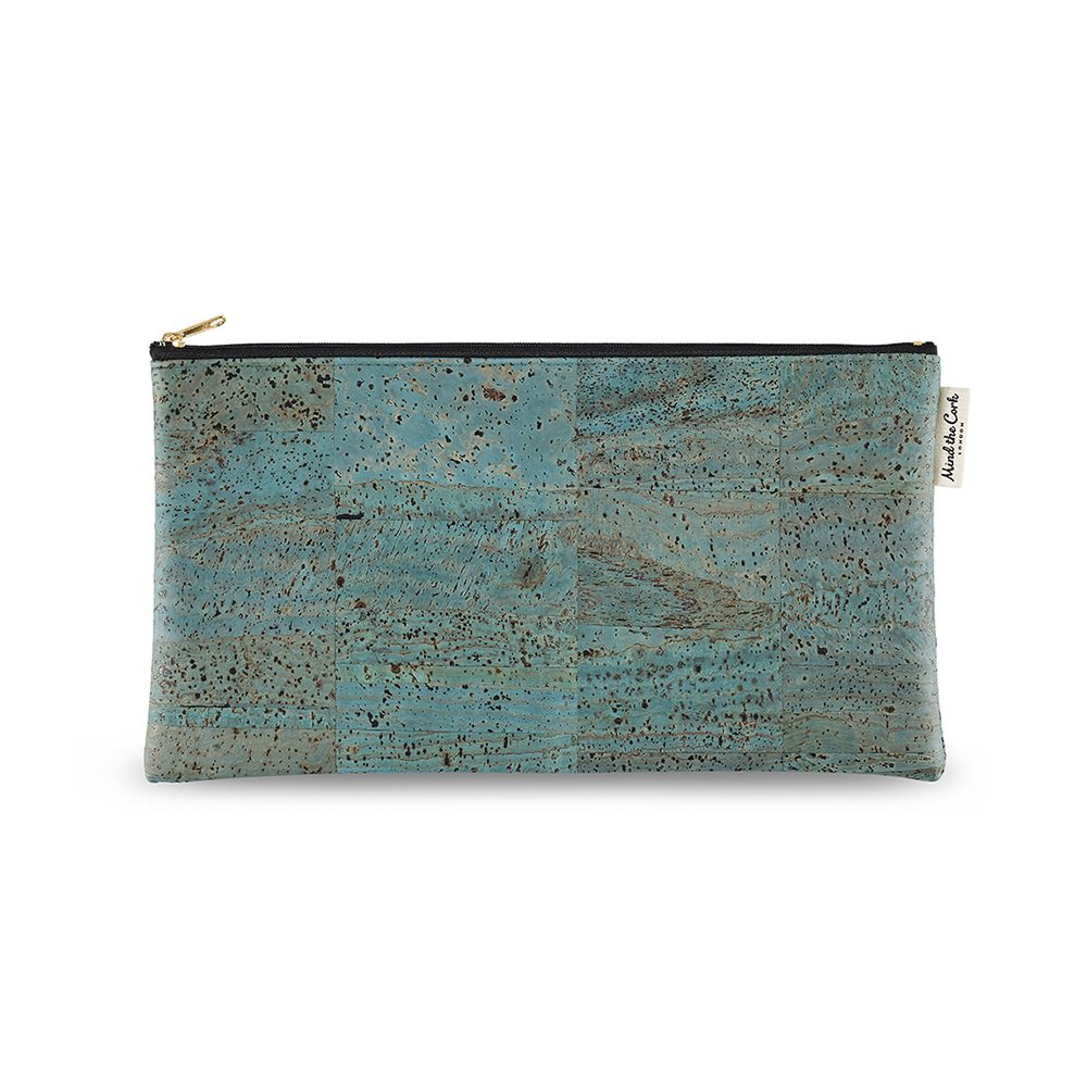 Unusual gifts for her - sustainable cork case - blue