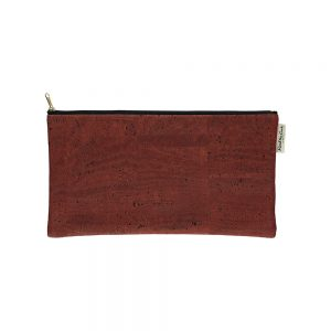 Unusual gifts for her - sustainable cork case in red