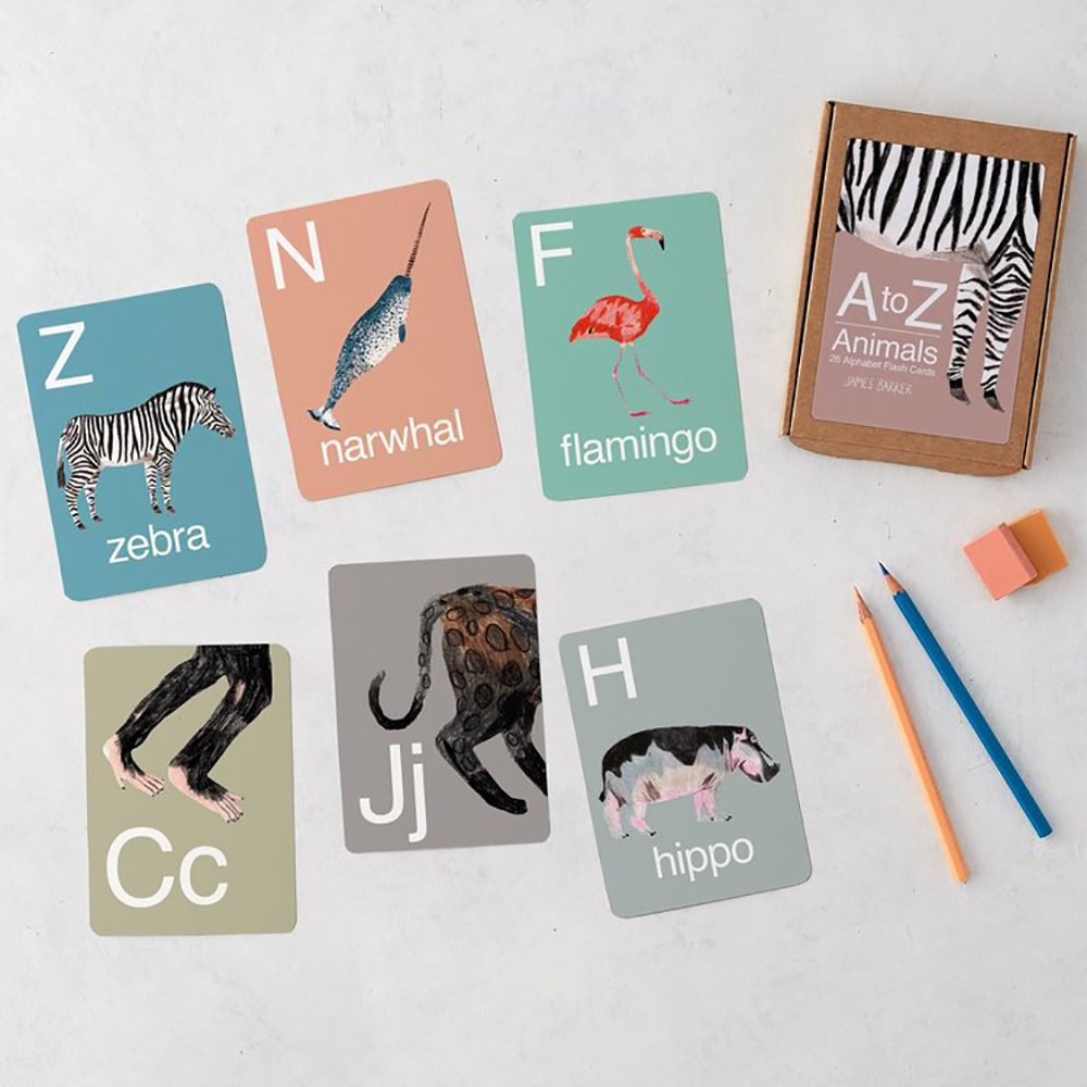 Unusual gifts for kids - animal flash cards