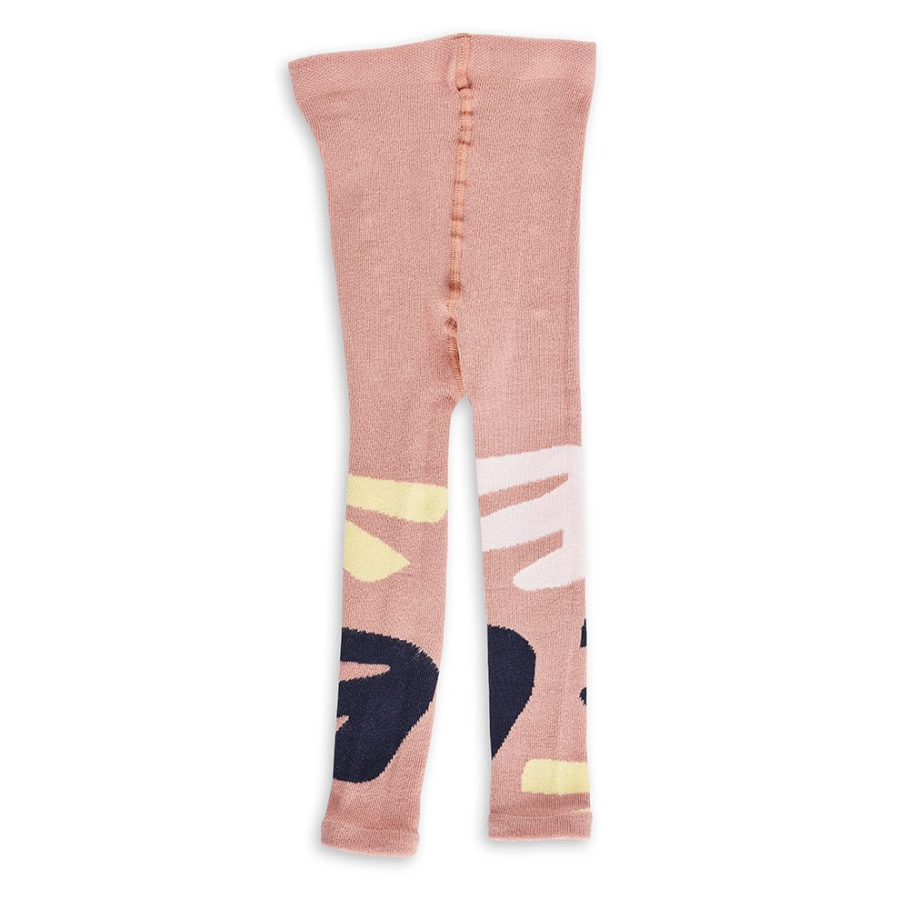Unusual gifts for kids - pink and navy organic baby leggings