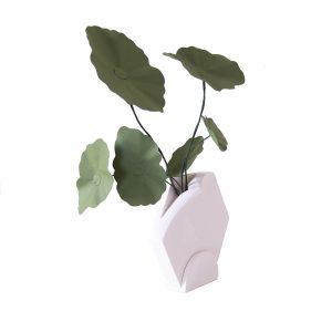 Unusual homeware Teumsae Standing Vase White