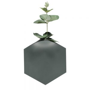 Unusual homeware - Teumsae wall vase dark grey