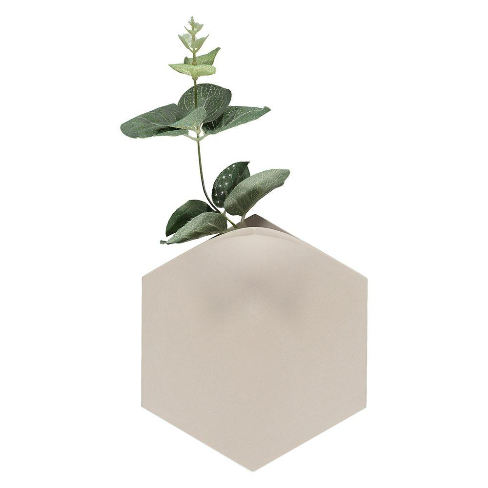 Unusual homeware - Teumsae wall vase light grey