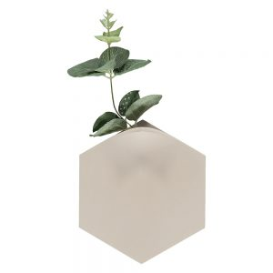 Unusual homeware - Teumsae wall vase light grey