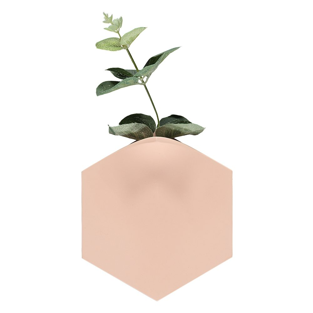 Unusual homeware - Teumsae wall vase pink
