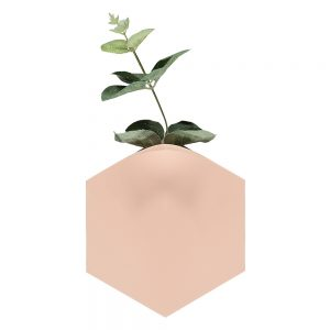 Unusual homeware - Teumsae wall vase pink