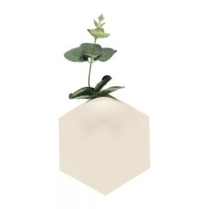 Unusual homeware - Teumsae wall vase white