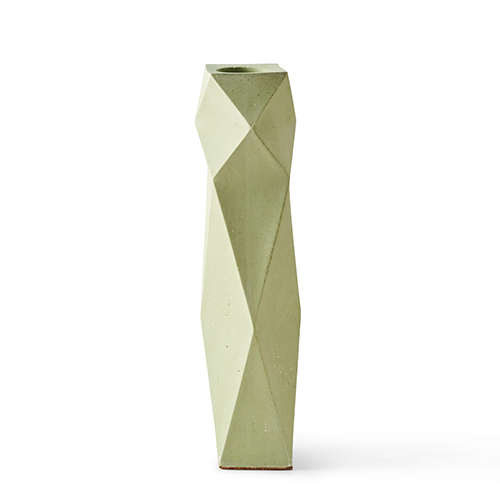 Unusual homeware - tea dust vase in green