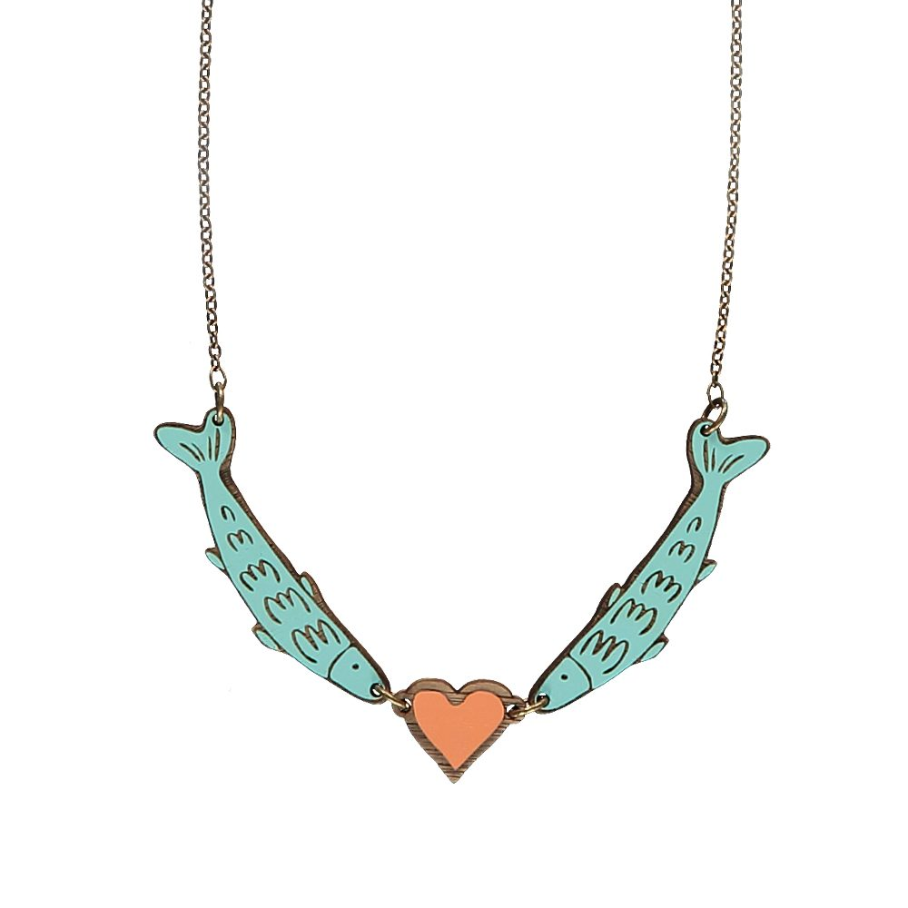 Unusual jewellery - Fish Love Necklace