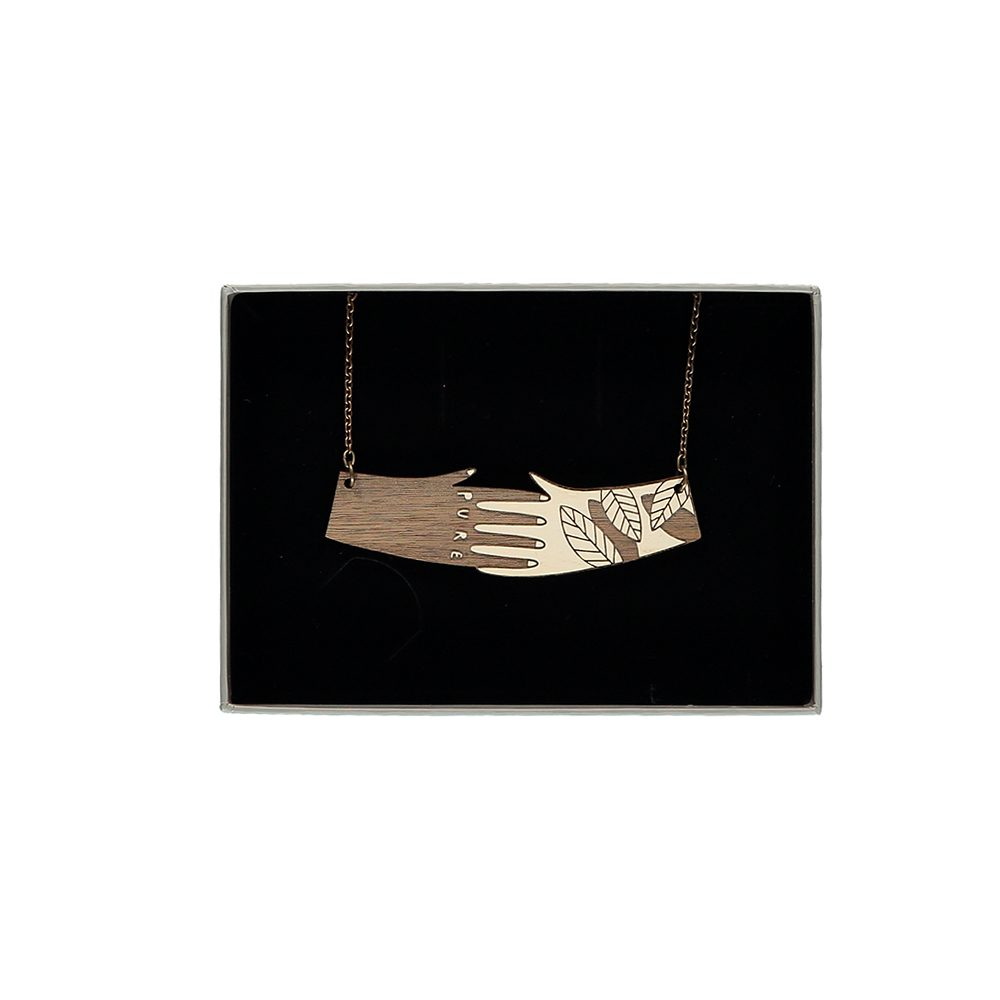 Unusual jewellery - Hands necklace