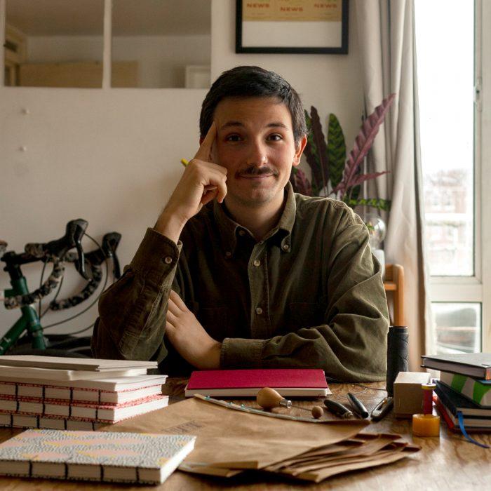 Allesandro in his studio
