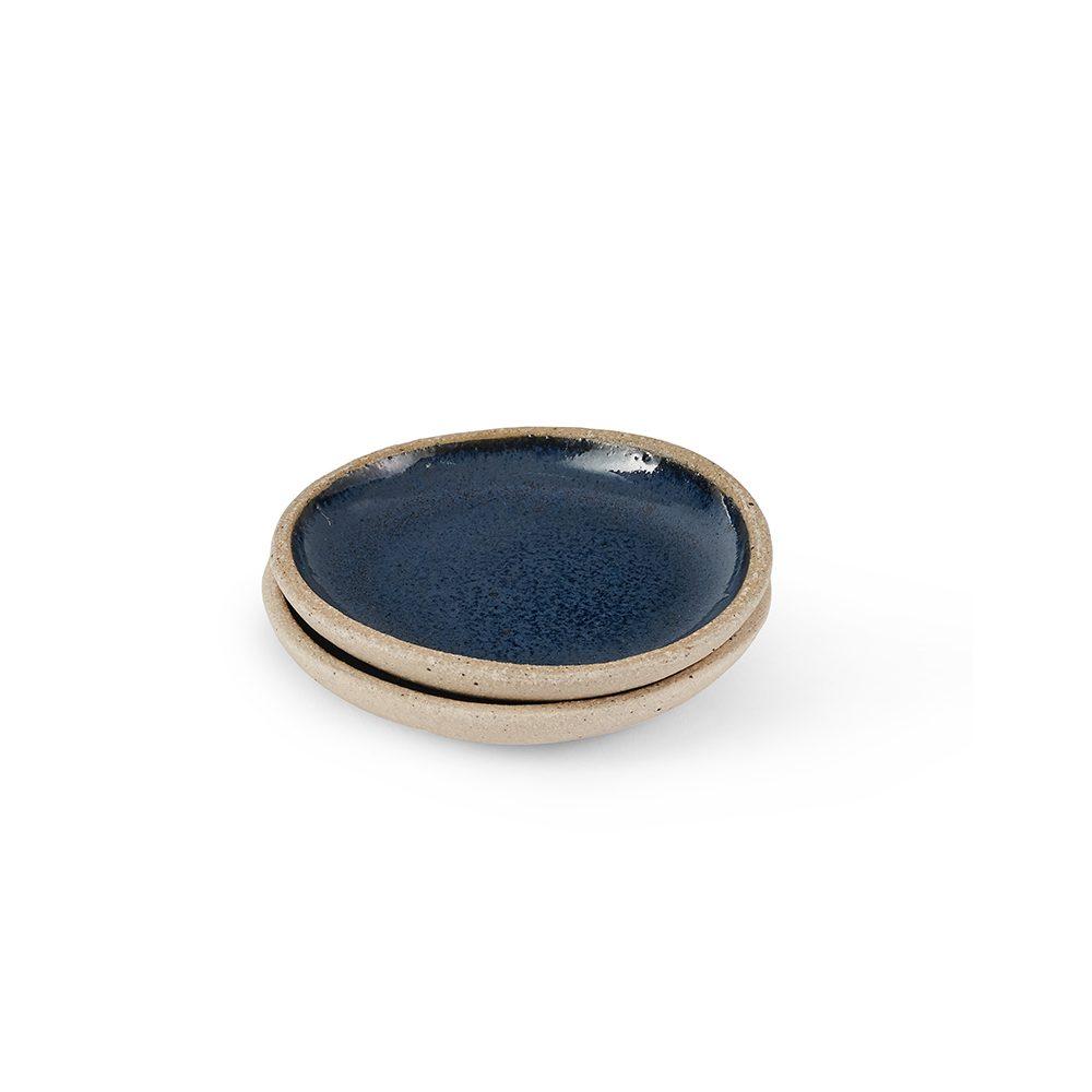 Homeware gifts - handmade pinch pot with dark blue glaze