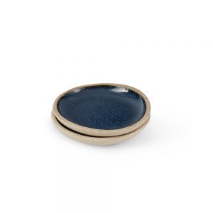 Homeware gifts - handmade pinch pot with dark blue glaze