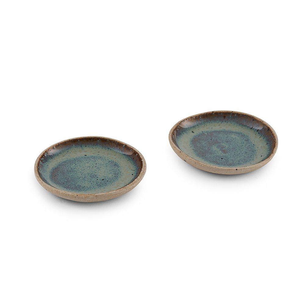 Homeware gifts - handmade pinch pot with green glaze