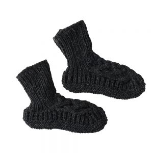 Luxury socks dark grey slippers