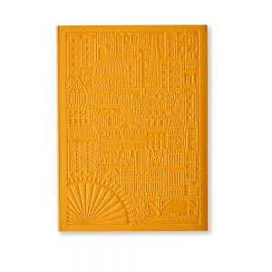 Luxury notebooks - London debossed design in yellow