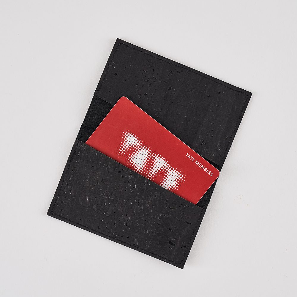Mens accessories gifts - sustainable cork cardholder in black