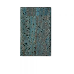 Mens accessories gifts - sustainable cork cardholder in blue