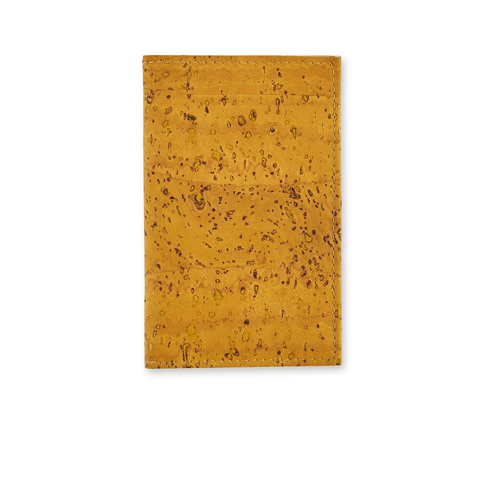 Unusual Gifts for Him - Cork Cardholder Yellow