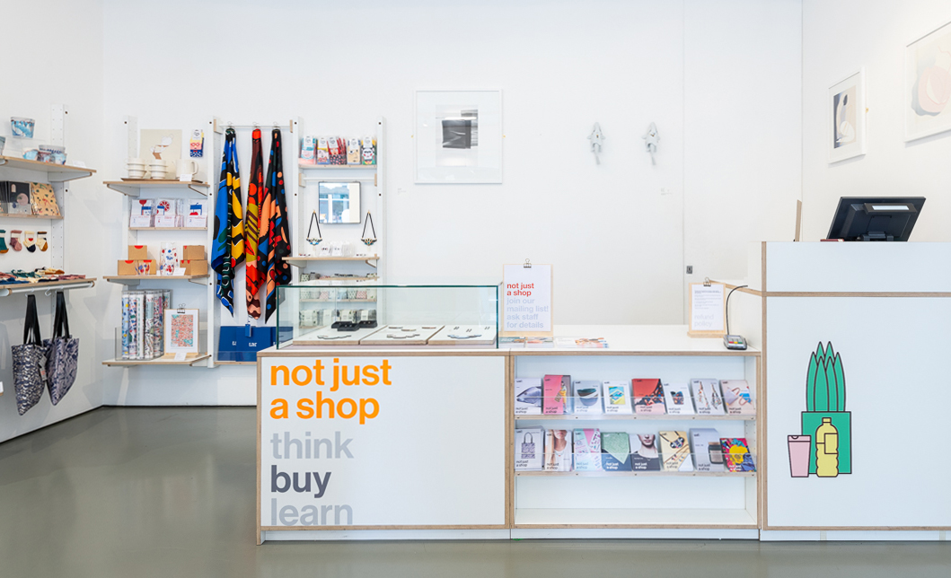 Photo of the interior of not just a shop