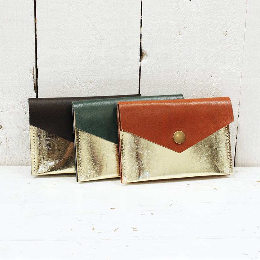 3 gold purses