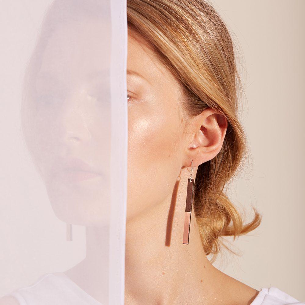 Unique earrings - Zelda copper