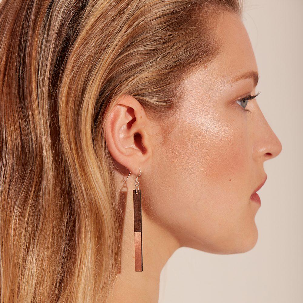 Unique earrings - Zelda brass